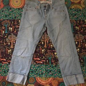 Levi's women's 509 cuff cropped jeans 7m